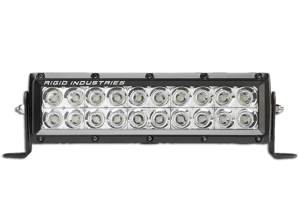 Rigid Industries 10 in. E-Series MIL LED Light Bar - Flood Beam (97-18 All)