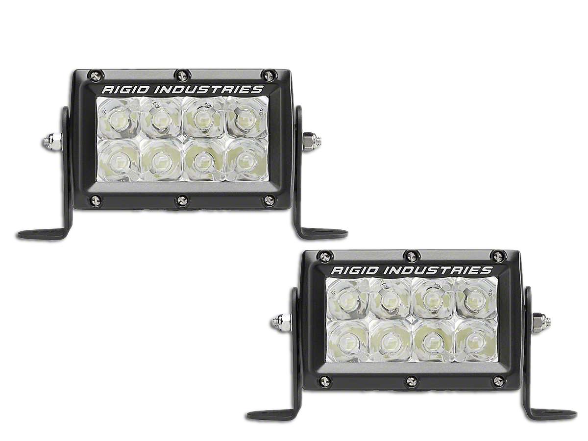 Rigid Industries 4 in. E-Mark E-Series LED Light Bars - Spot Beam - Pair (97-18 All)