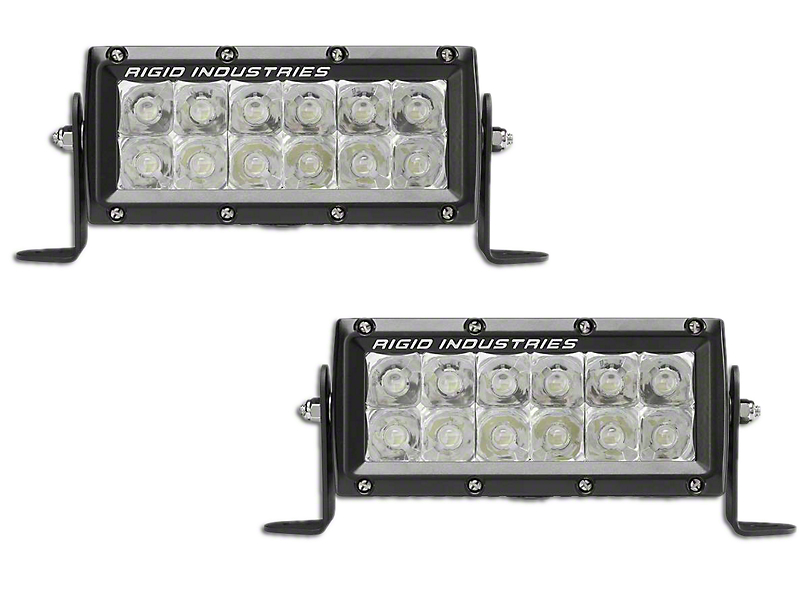 Rigid Industries 6 in. E-Mark E-Series LED Light Bars - Spot Beam - Pair (97-18 F-150)