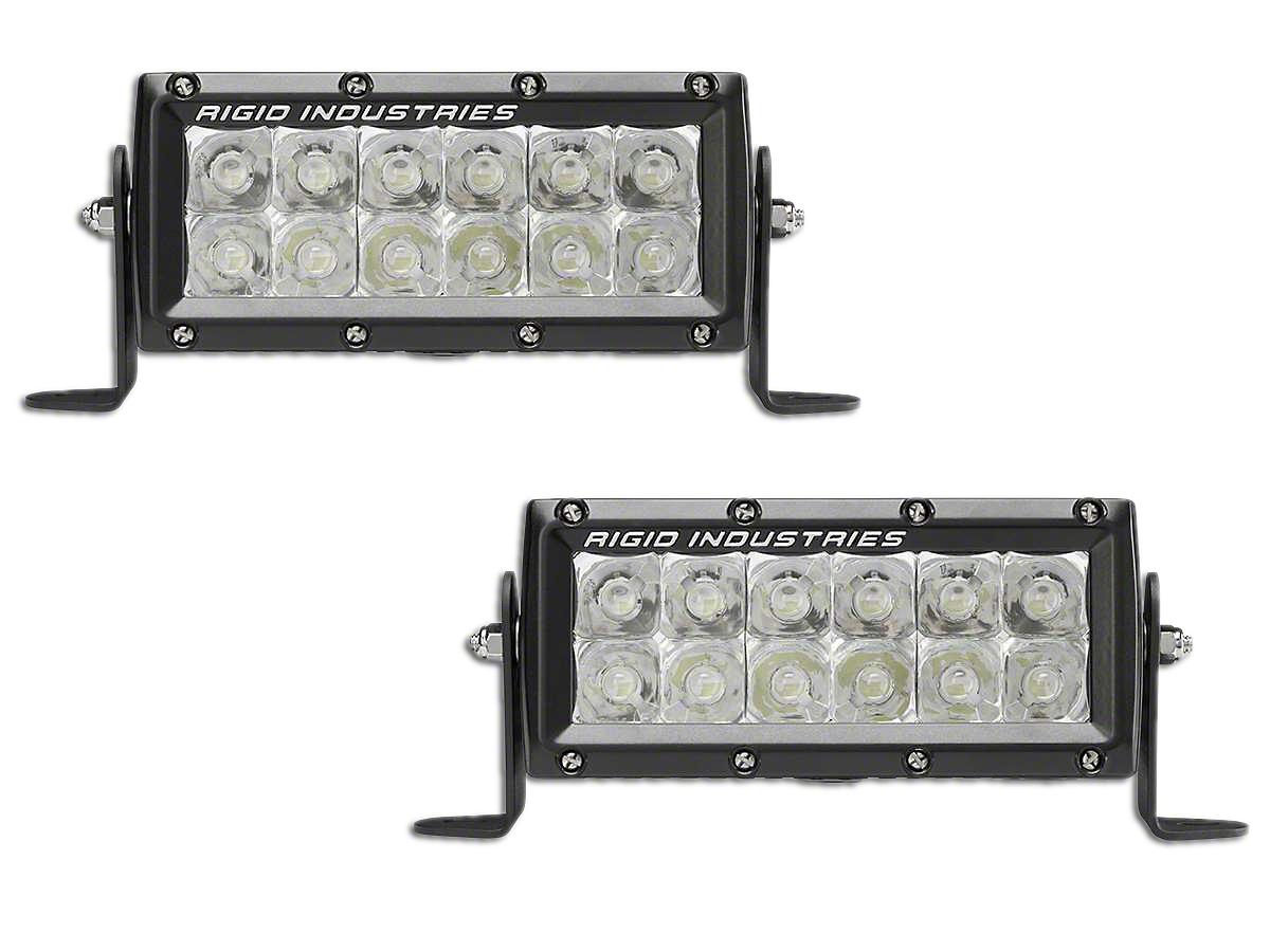 Rigid Industries 6 in. E-Mark E-Series LED Light Bars - Spot Beam - Pair (97-18 All)