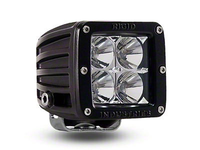 Rigid Industries D-Series Amber LED Cube Light - Spot Beam (97-18 All)