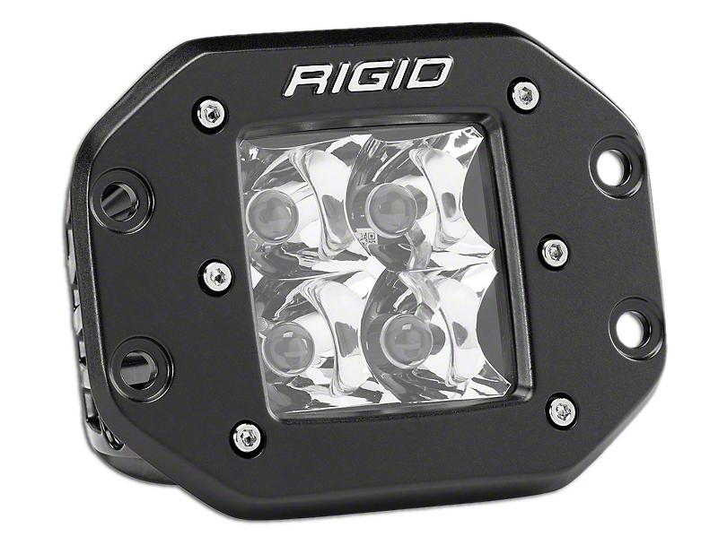Rigid Industries D-Series Flush Mount Amber LED Cube Light - Spot Beam (97-18 All)