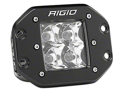 Rigid Industries D-Series Flush Mount Amber LED Cube Light - Spot Beam (97-18 F-150)