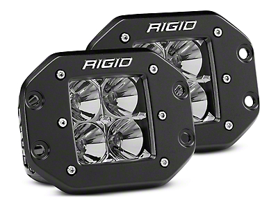 Rigid Industries D-Series Flush Mount LED Cube Lights - Flood Beam - Pair (97-18 F-150)