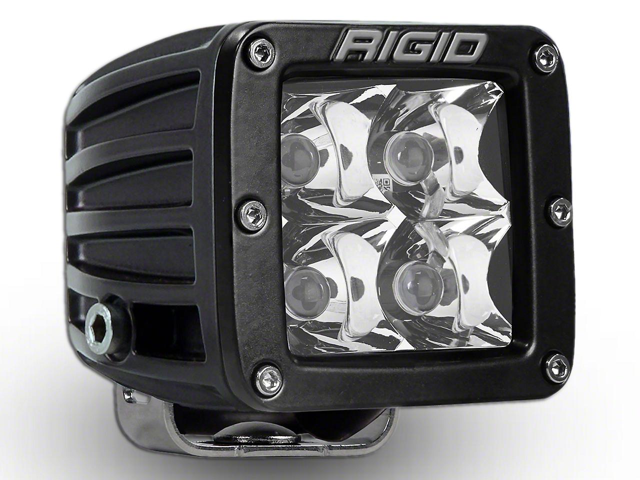 Rigid Industries D-Series HD Amber LED Cube Light w/ Yellow Surround - Spot Beam (97-18 All)