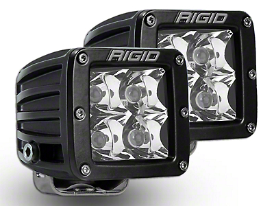Rigid Industries D-Series HD Amber LED Cube Lights - Spot Beam - Pair (97-18 All)