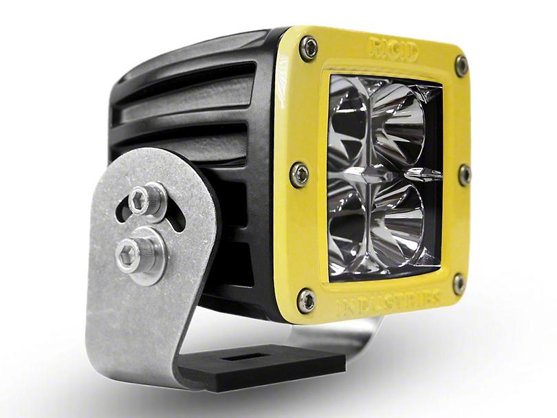Rigid Industries D-Series HD LED Cube Light w/ Yellow Surround - Flood Beam (97-18 All)