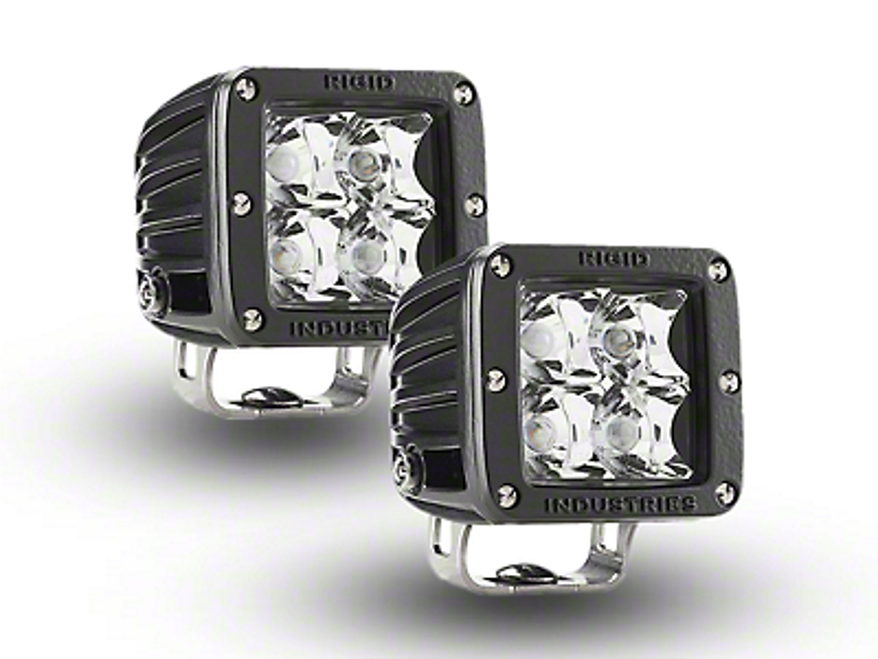 Rigid Industries E-Mark Dually LED Cube Lights - Spot Beam - Pair (97-18 All)
