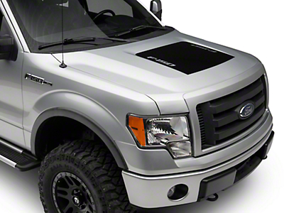 Black Hood Decal w/ F-150 Logo (09-14 F-150, Excluding Raptor)