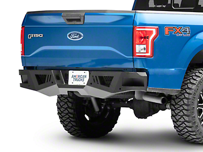 Black Horse Off Road Armour Rear HD Bumper w/ Light Kit (15-18 All, Excluding Raptor)