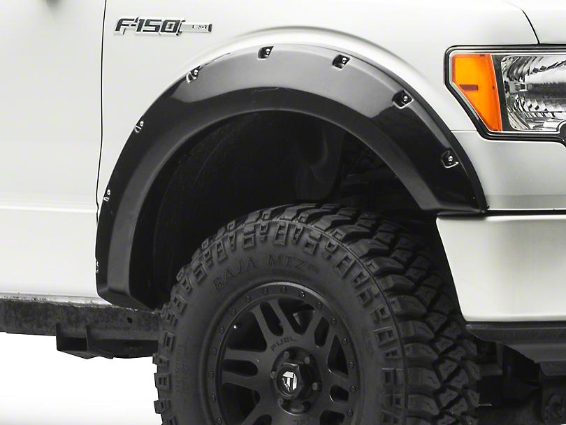 Black Horse Off Road Pocket Style Fender Flares - Matte Black (09-14 F-150 Styleside, Excluding Raptor)