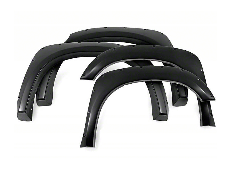 Black Horse Off Road Pocket Style Fender Flares - Matte Black (15-17 SuperCrew, Excluding Raptor)