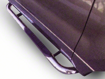 Black Horse Off Road 3 in. Round Side Step Bars - Stainless Steel (04-08 F-150 Regular Cab)