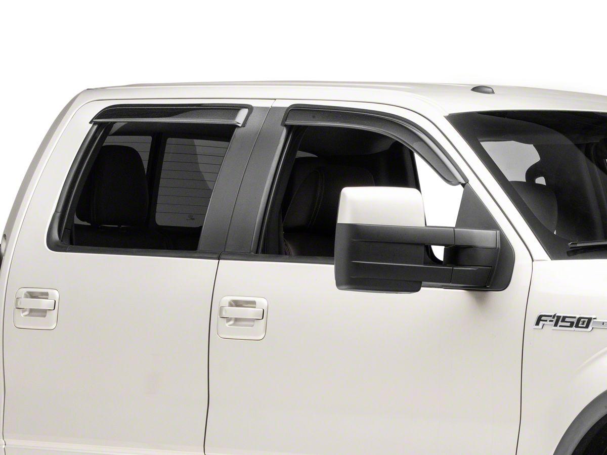 Rain Guards For Trucks >> Black Horse Off Road Smoke Rain Guards Front Rear 09 14 F 150 Supercrew