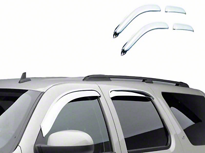 Black Horse Off Road Chrome Rain Guards - Front & Rear (09-14 SuperCrew)