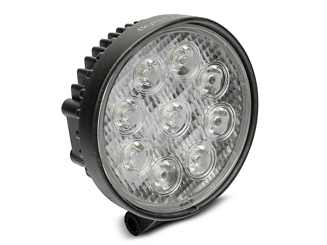 Alteon 4 in. Work Visor 9 LED Round Light - 60 Degree Flood Beam