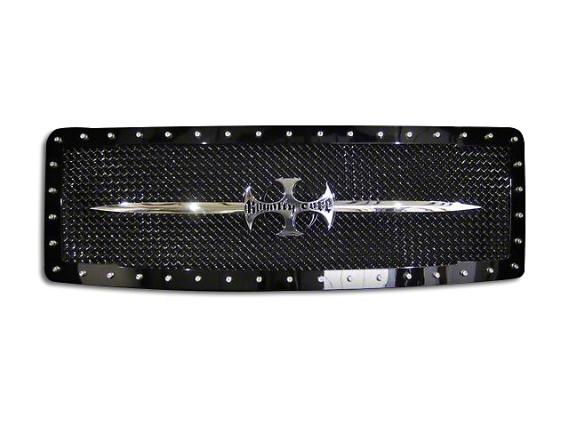 Royalty Core RC1 Upper Replacement Grille w/ Chrome Sword Assembly - Black (09-12 F-150, Excluding Raptor)