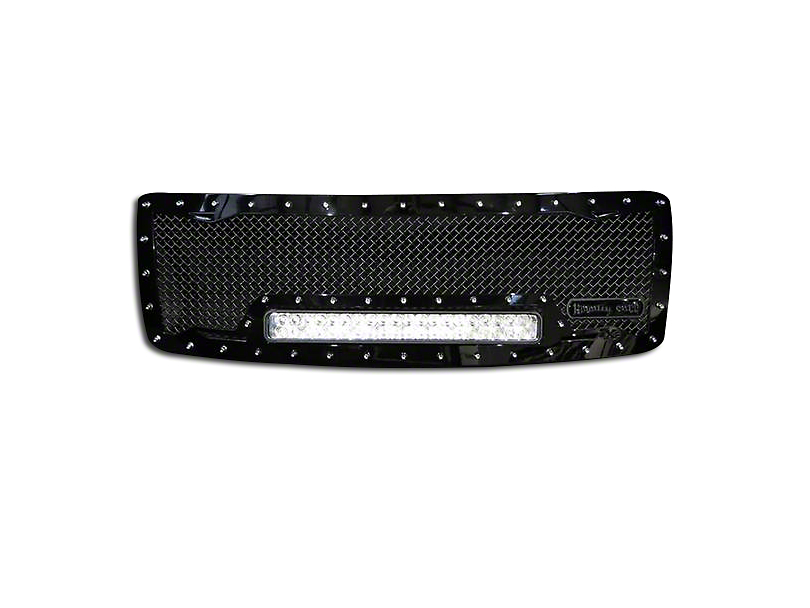 Royalty Core RC1X Incredible Upper Replacement Grille w/ 19 in. LED Light Bar - Black (13-14 F-150, Excluding Raptor)