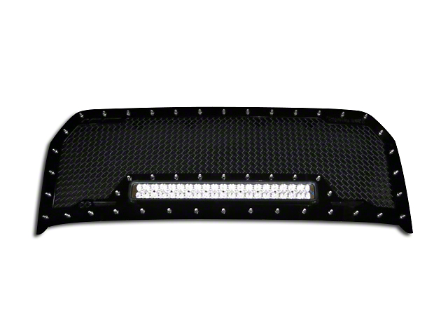 Royalty Core RC1X Incredible Upper Replacement Grille w/ 19 in. LED Light Bar - Black (15-17 F-150, Excluding Raptor)