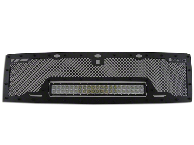 Royalty Core RCRX Race Line Upper Replacement Grille w/ 23 in. LED Light Bar - Black (10-14 Raptor)