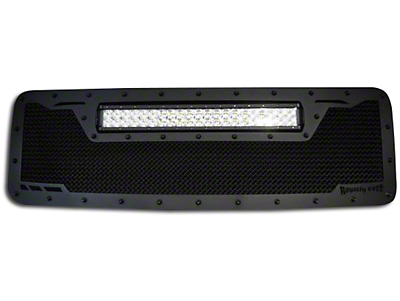 Royalty Core RCRX Race Line Upper Replacement Grille w/ Top Mounted 23 in. LED Light Bar - Black (13-14 F-150, Excluding Raptor)