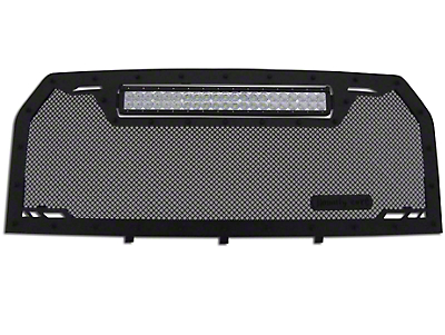 Royalty Core RCRX Race Line Upper Replacement Grille w/ Top Mounted 23 in. LED Light Bar - Black (15-17 F-150, Excluding Raptor)