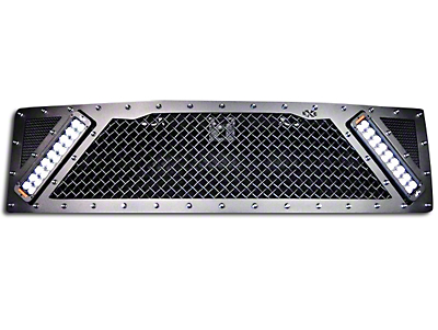 Royalty Core RCX Explosive Upper Replacement Grille w/ Dual 11 in. LED Light Bars - Black (10-14 F-150 Raptor)
