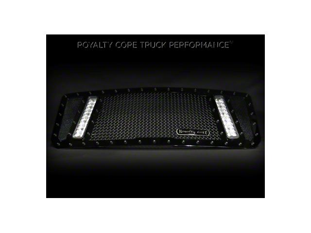 Royalty Core RCX Explosive Upper Replacement Grille w/ Dual 12 in. LED Light Bars - Black (17-19 F-150 Raptor)