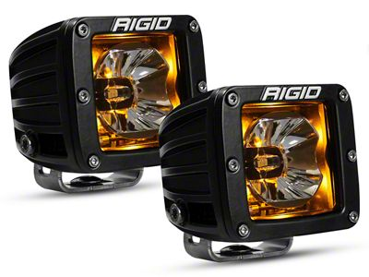 Rigid Industries D-Series Radiance LED Cube Lights w/ Amber Back-Light - Flood/Spot Combo