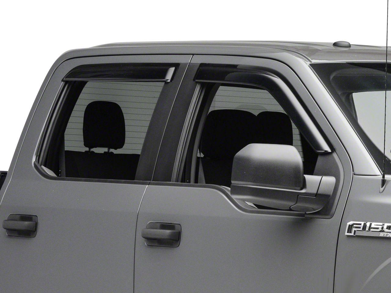 Rain Guards For Trucks >> Smoke Rain Guards Front Rear 15 20 F 150 Supercab Supercrew