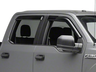 Smoke Window Visor Sun Guard For 2015-2018 Ford F-150 F150 SuperCab Extended Cab