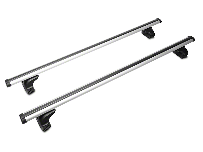 Black Horse Off Road Adjustable Roof Cross Bars - Silver (97-19 F-150)