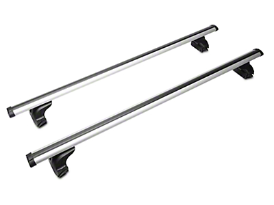Black Horse Off Road Adjustable Roof Cross Bars - Silver (97-18 F-150)