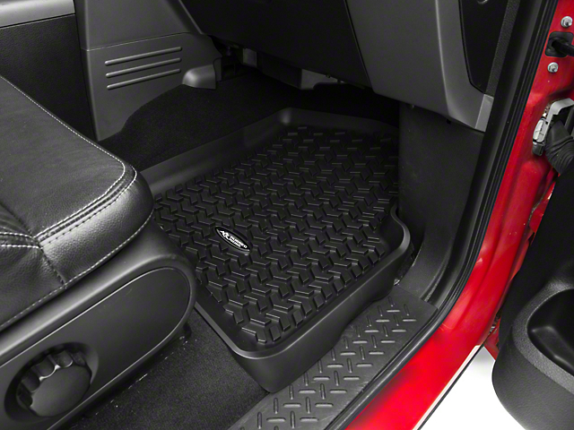 Rugged Ridge All-Terrain Front Floor Liners - Black (04-08 All)