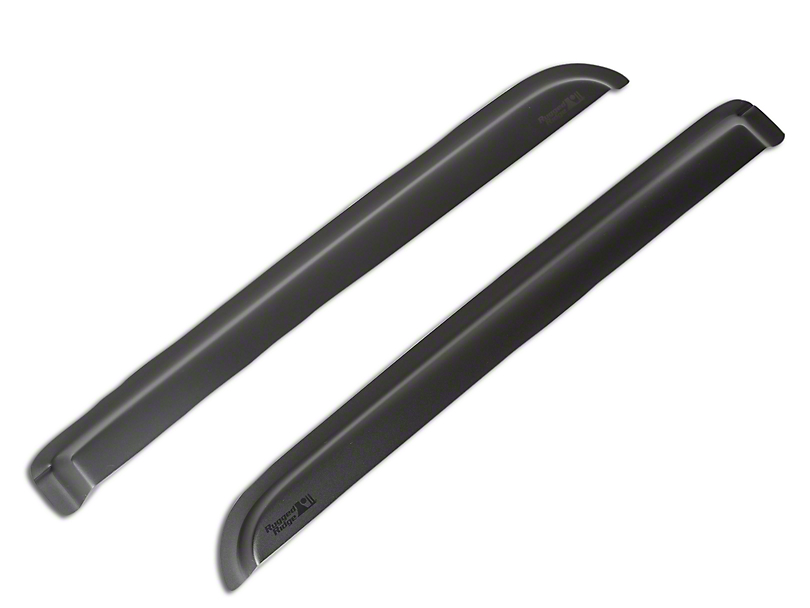 Rugged Ridge Rear Window Visors - Matte Black (04-08 F-150 SuperCrew)