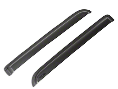 Rugged Ridge Rear Window Visors - Matte Black (04-08 SuperCrew)