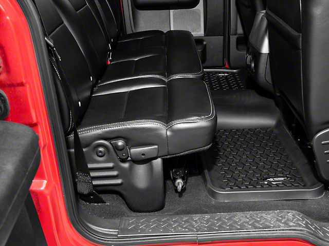 Rugged Ridge All-Terrain 2nd Row Floor Liner - Black (97-08 SuperCab; 04-08 SuperCrew)