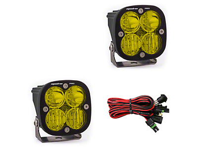 Baja Designs Squadron Pro Amber LED Light - Driving/Combo Beam - Pair (97-18 All)