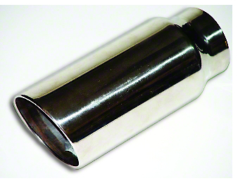 MAC 5 in. Rolled Angle Cut Exhaust Tip - Polished Stainless - 4 in. Connection (97-18 F-150)
