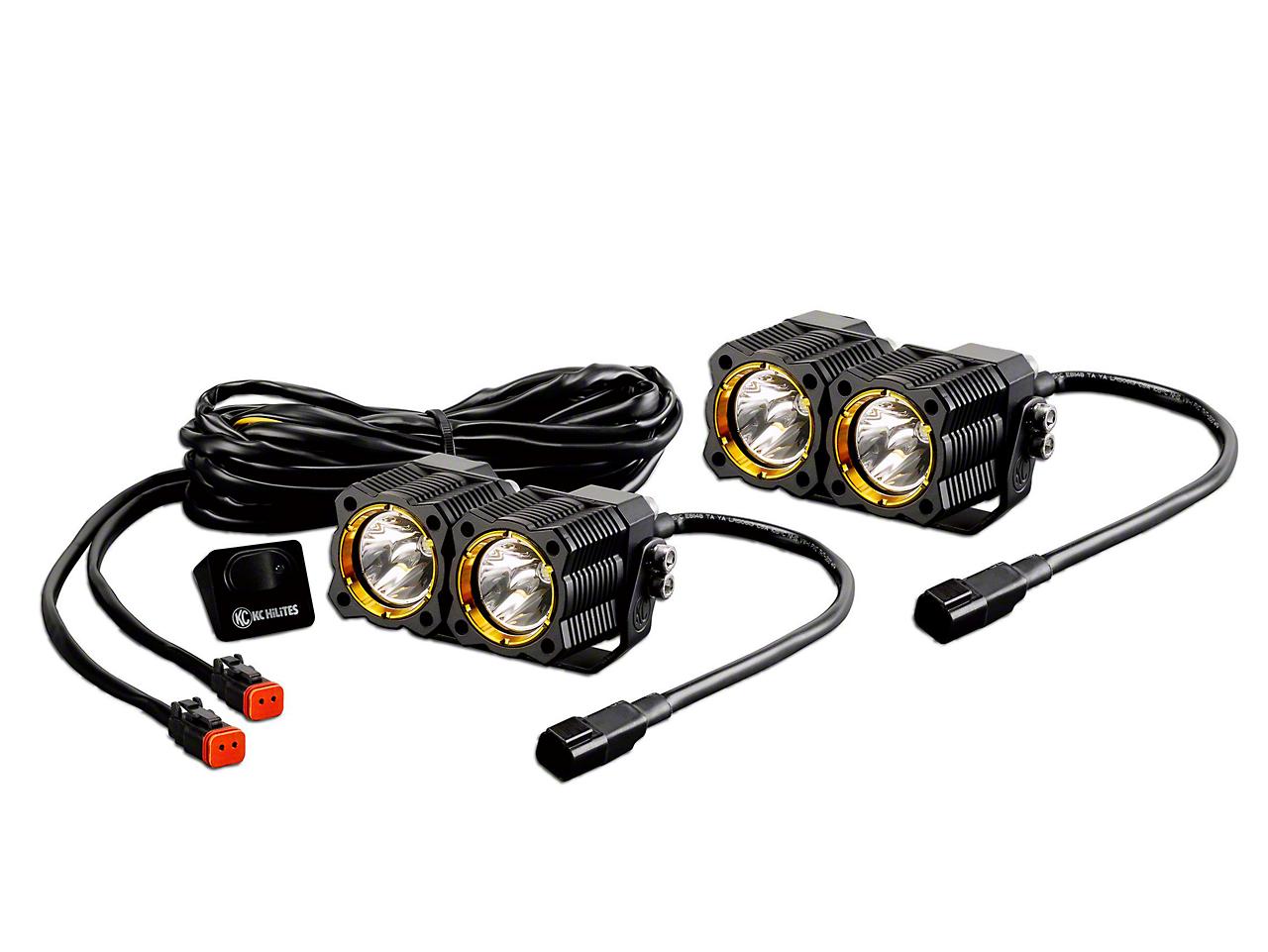KC HiLiTES FLEX Dual LED Light - Spot Beam (97-18 F-150)