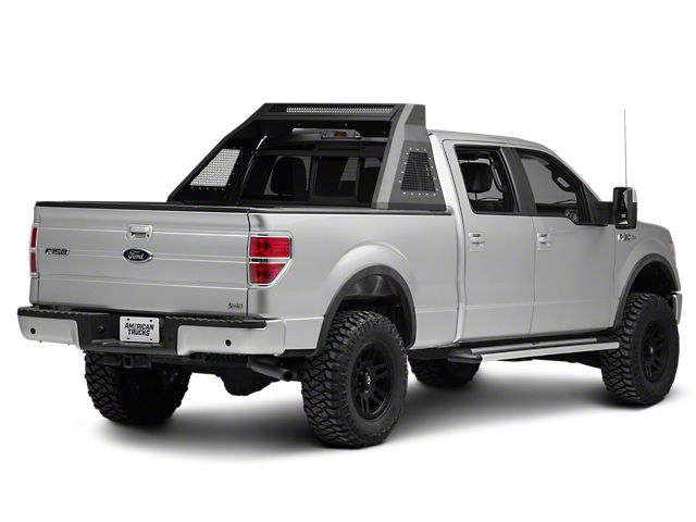 Barricade Aluminum HD Chase Rack - Textured Black (04-19 F-150 Styleside)
