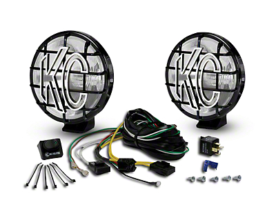 KC HiLiTES 6 in. Apollo Pro Halogen Lights - Spread Beam - Pair (97-18 F-150)