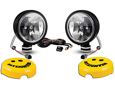 KC HiLiTES 6 in. Black Gravity Daylight LED Round Light - Spot Beam - Pair (97-18 F-150)