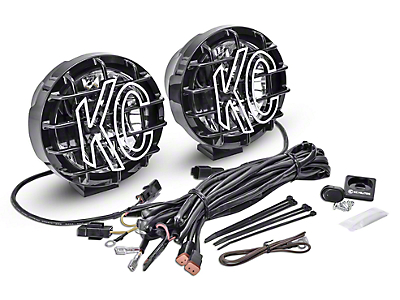 KC HiLiTES 6 in. Gravity Pro-Sport LED Light - Wide-40 Beam - Pair (97-18 F-150)