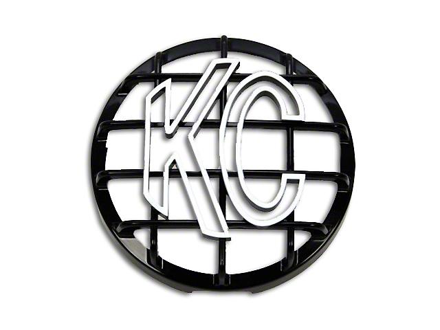 KC HiLiTES 6 in. Round Stone Guard for Daylighter & Slimlite - Black w/ White KC Logo (97-19 F-150)