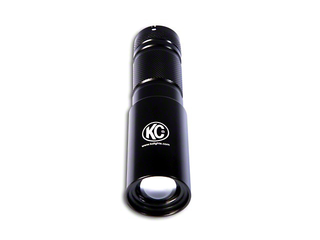 KC HiLiTES Adjustable 3W LED Flashlight - Black
