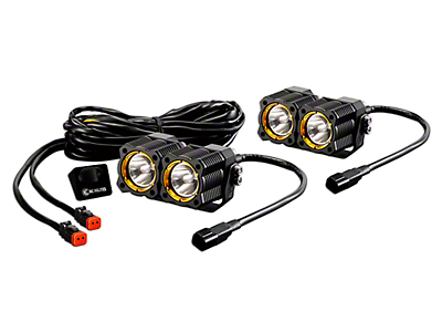 KC HiLiTES Flex Dual LED Light - 20W Spot Beam - Pair (97-18 F-150)