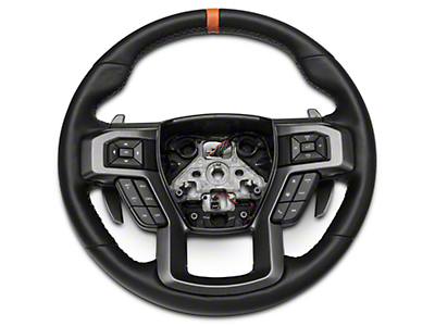 Ford Performance Raptor Leather Steering Wheel Kit w/ Orange Sightline (15-18 F-150)