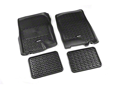 Rugged Ridge All-Terrain Front & 2nd Row Floor Liners - Black (97-03 F-150)