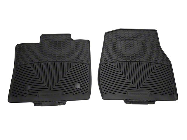 Weathertech All Weather Front Rubber Floor Mats - Black (15-18 F-150 Regular Cab)